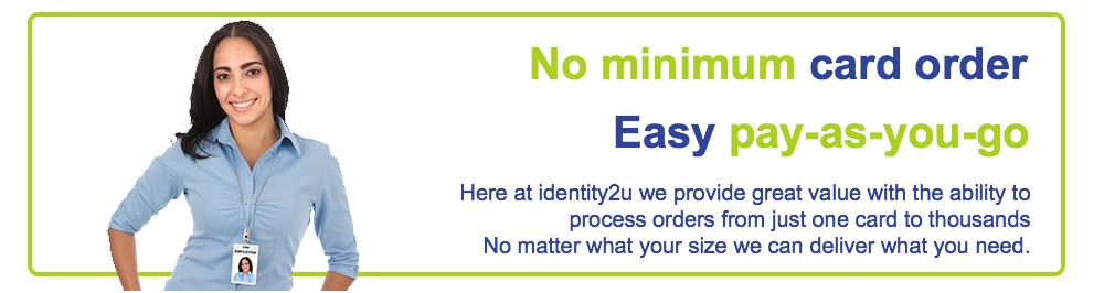 No minimum order from 1 card to ...