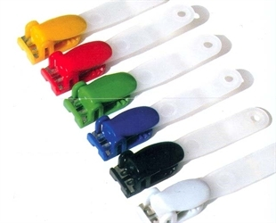 Coloured Locking Clip With Frosted Strap Image