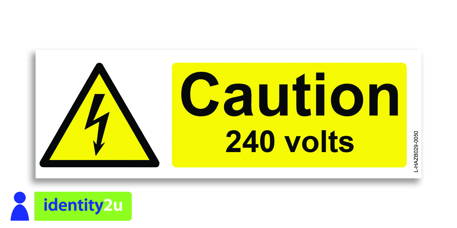 Caution 240 volts 50 Image